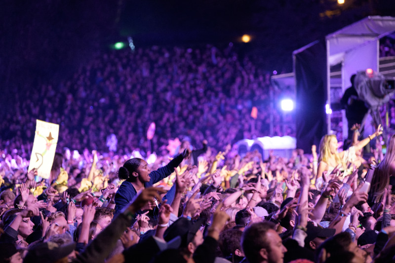 J. Cole, Outside Lands, crowd