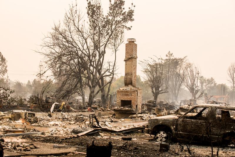 Tubbs Fire, Santa Rosa