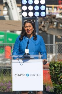 Chase Center, London Breed