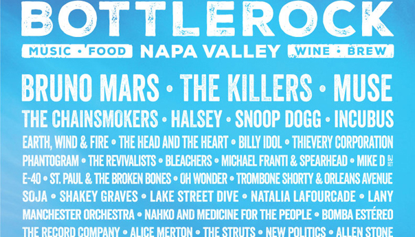 BottleRock Napa Valley 2018: Bruno Mars, The Killers, Muse to headline