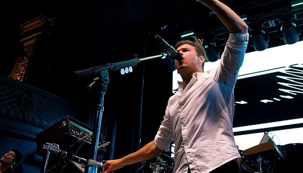 St. Lucia frontman Jean-Philip Grobler injures ankle at August Hall show