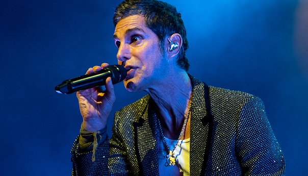 Perry Farrell gets lighthearted with the Kind Heaven Orchestra at the Fillmore