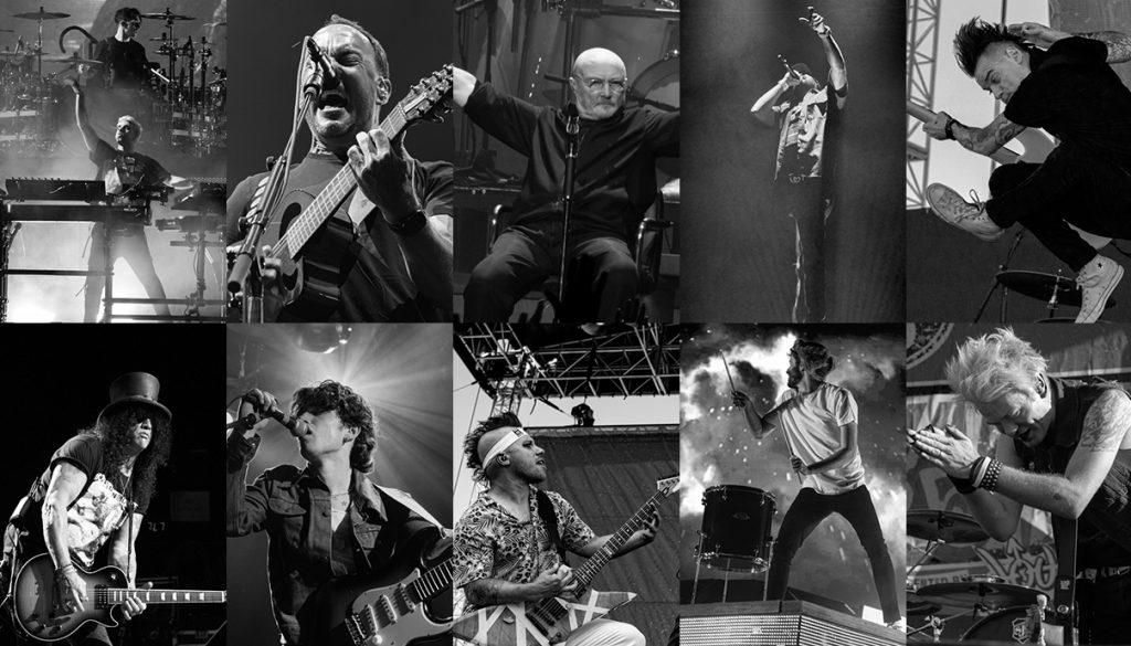 The Chainsmokers, Dave Matthews Band, Phil Collins, Meek Mill, Anti-Flag, Sum 41, AJR, Atretyu, Inhaler, Slash