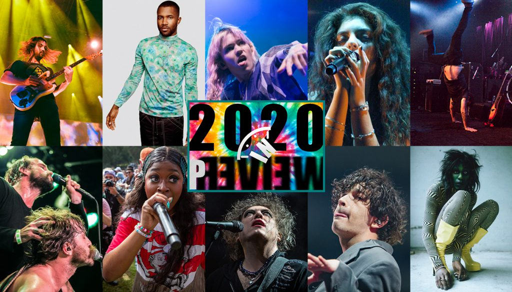 Tame Impala, Frank Ocean, Grimes, Lorde, AJJ, Yves Tumor, The 1975, The Cure, Tierra Whack, IDLES