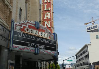 The Fox Theater in Oakland collecting food and supplies for area nonprofits