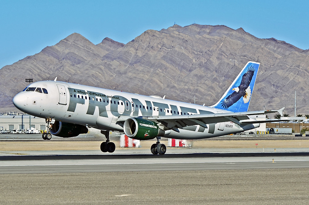 Frontier Airlines, airplane