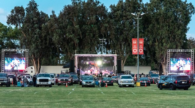 Tribute bands draw hundreds to the Bay Area's first drive-in concert of the COVID-19 era