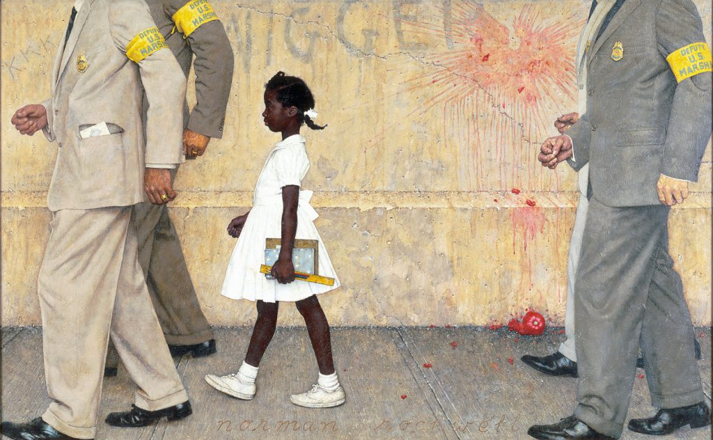 The Problem We All Live With, Norman Rockwell, Ruby Bridges, Juneteenth