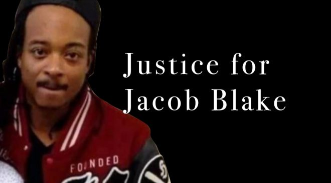 REWIND kneeling in protest for Jacob Blake