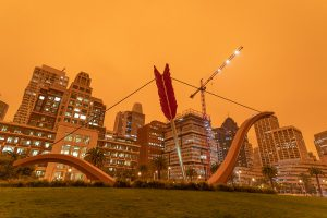 San Francisco, smoke, climate change, 2020, dystopia, apocalypse, Cupid's Span, Cupid's Bow