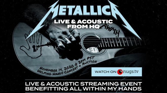 Metallica announces PPV All Within My Hands Foundation fundraiser