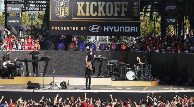 NFL kicks off season at Justin Herman Plaza with Train and Ellie Goulding