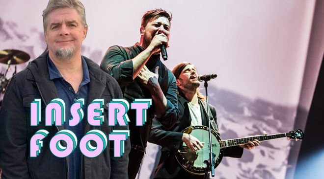 Insert Foot: Mumford & Sons' Winston Marshall really inserted his foot last week